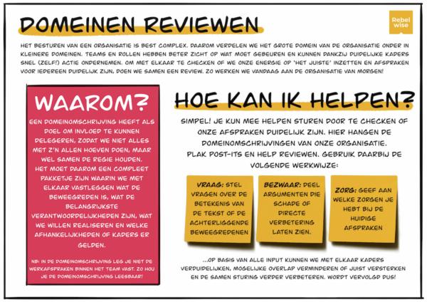 domeinen en werkafspraken reviewen